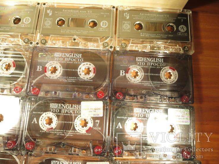 Аудиокассеты импортные б.у 25 шт.самоучитель английского языка, фото №5