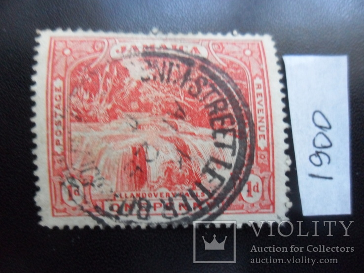 Британские колонии.  Ямайка. 1900 г. марка гаш