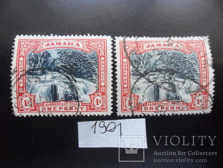 Британские колонии.  Ямайка. 1901 г. Разные марки гаш