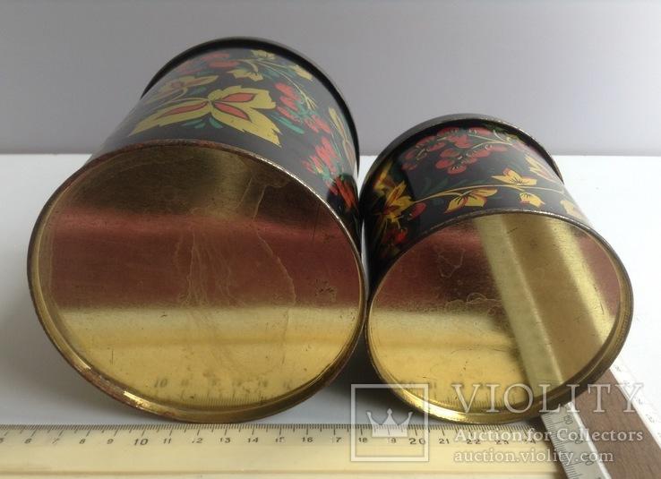 Коробки для сыпучих продуктов. СССР.  Металл, жесть., фото №5
