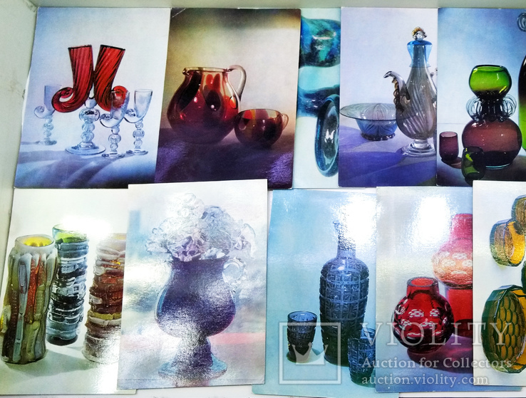 Комплект открыток Советское стекло 1975 год. СССР, фото №5