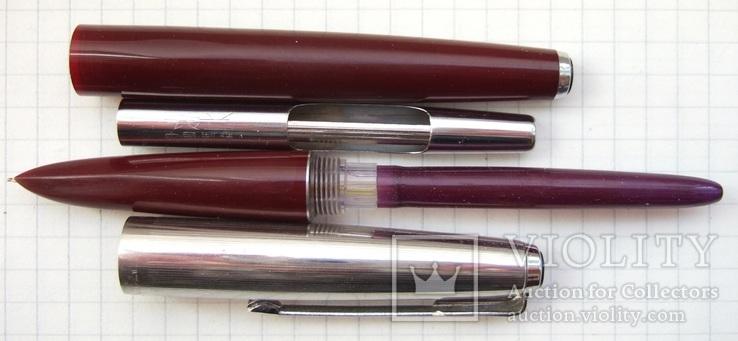 """Китайская перьевая ручка """"Lily-715"""". Пишет очень мягко, тонко и насыщенно., фото №4"""