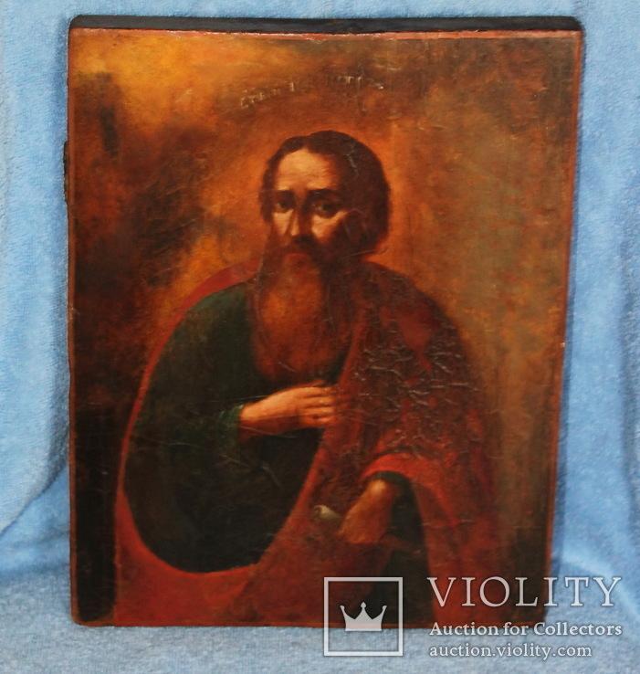 """Украинская икона , 18 век """"Святой Петр"""", фото №2"""