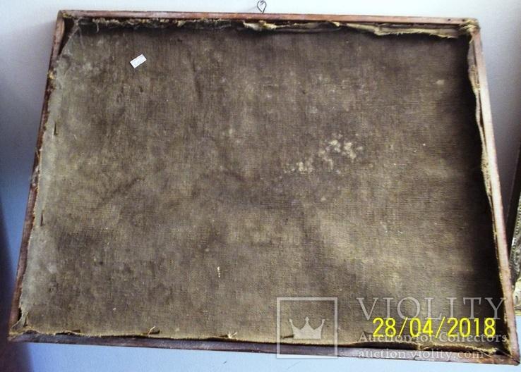 Святі Миколай і Варвара/картина 18 ст./темпера/домоткане полотно. Поділля, фото №5