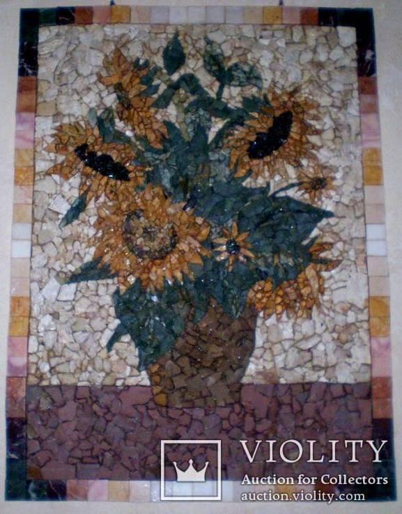 Картина мозаика натуральный камень, фото №2