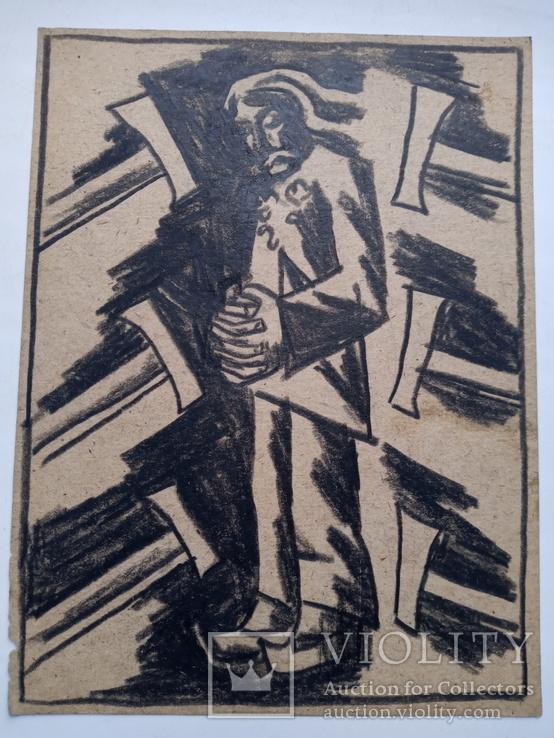 Малюнок Івана Остафійчука 1965 р. 24×18 см. 4, фото №2