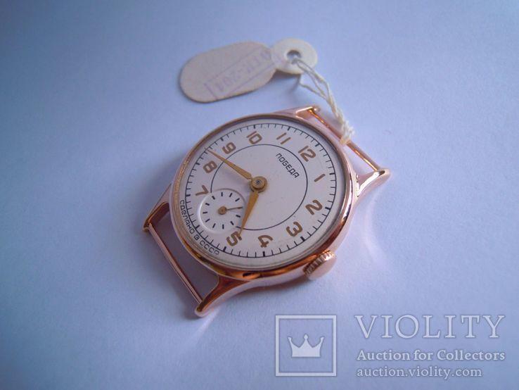 Золотые часы Победа 583, фото №8