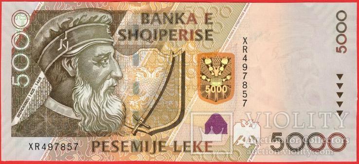 5000 Лек 2013, Албания UNC, фото №2