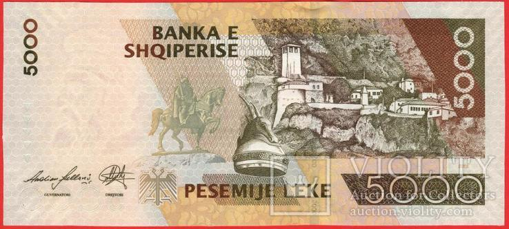 5000 Лек 2013, Албания UNC, фото №3