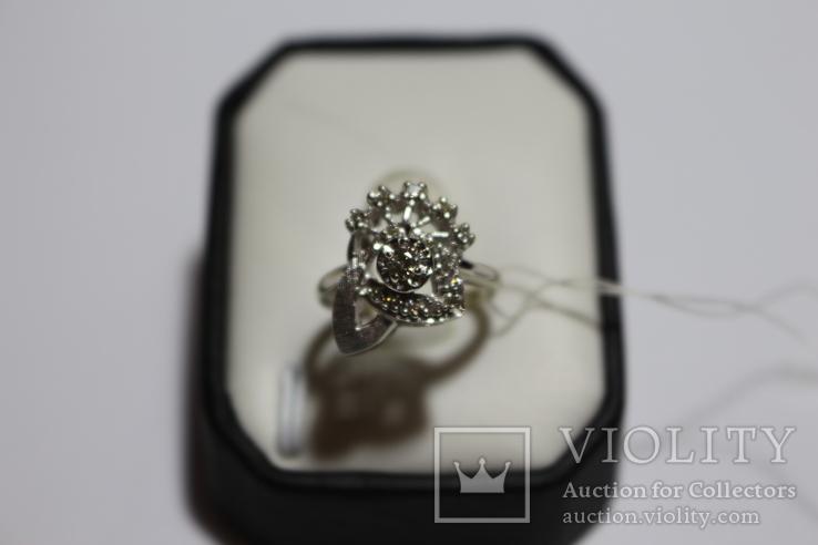 Золотое кольцо с бриллиантами в ретро стиле Арт-Деко, фото №2