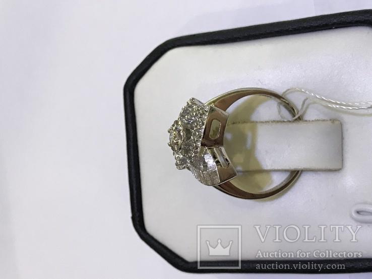 Золотое кольцо с бриллиантами в ретро стиле Арт-Деко, фото №8