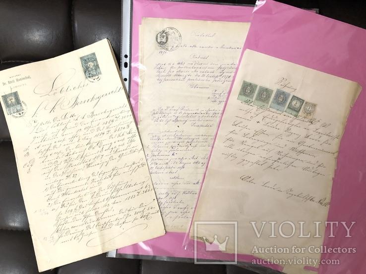 Марки на Документах 19 века., фото №2