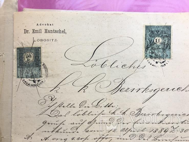 Марки на Документах 19 века., фото №3