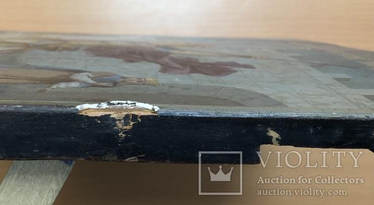 Икона Святой великомученик Георгий Победоносец 39х31 см, фото №11
