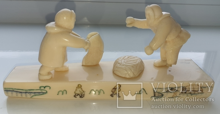 Клык моржа Уэлен композиция рыбалка, фото №4