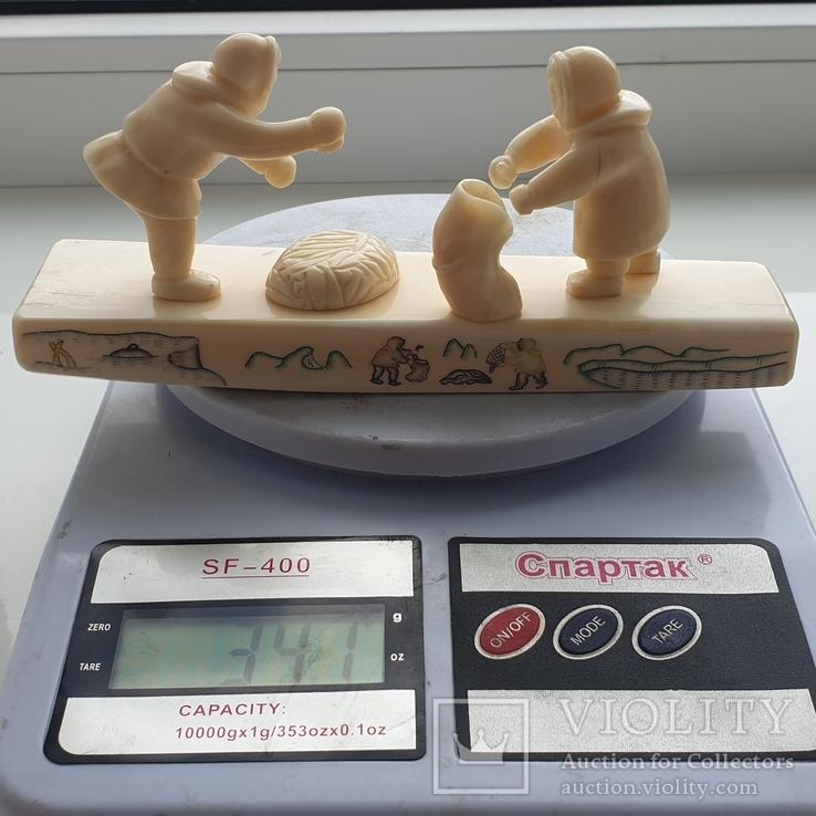 Клык моржа Уэлен композиция рыбалка, фото №5
