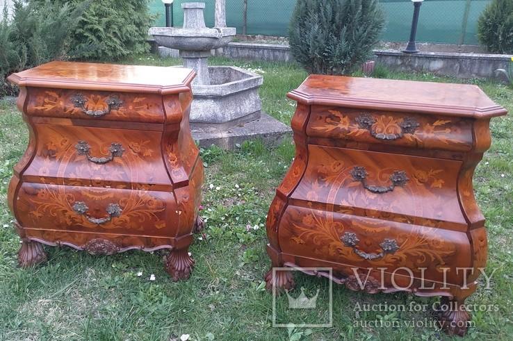 Дві приліжкові тумбочки у голадському стилі, фото №2
