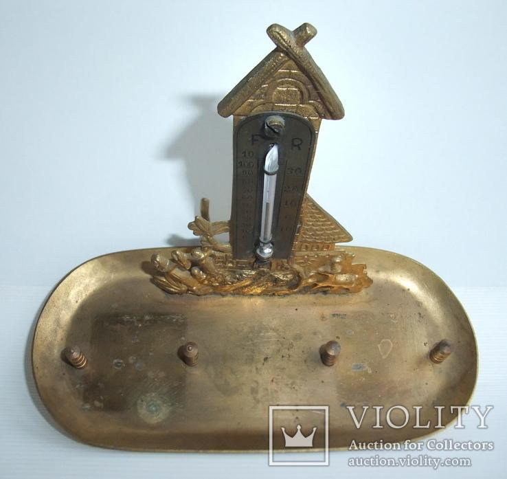 Чернильница. Письменный прибор с термометром. Европа ХІХ век., фото №8