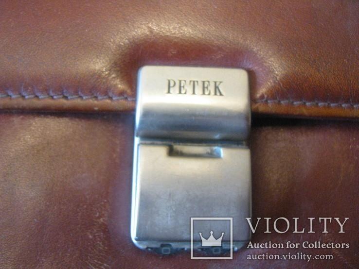 Мужская барсетка из натуральной кожи - PETEK., фото №3
