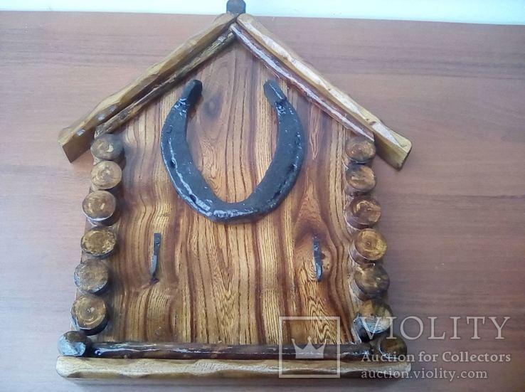 Авторская ключница «Счастливый Теремок» из натурального дерева., фото №2