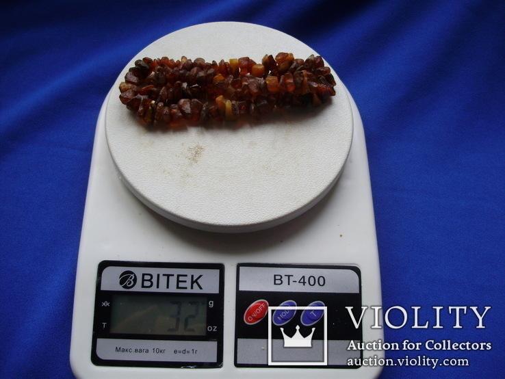 Бусы янтарные №6 вес 51 грамм Янтарь бурштин 2 шт, фото №10
