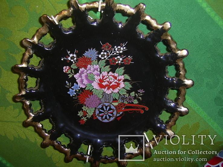 Настенная декоративная тарелка. чёрная глазурь Европа, фото №7