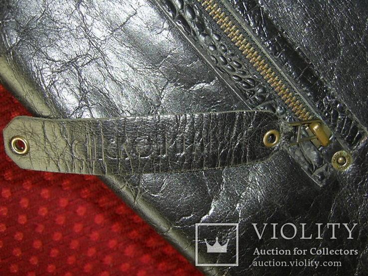 Сумка-саквояж кожаная миссионерская с кошельком Европа, фото №6
