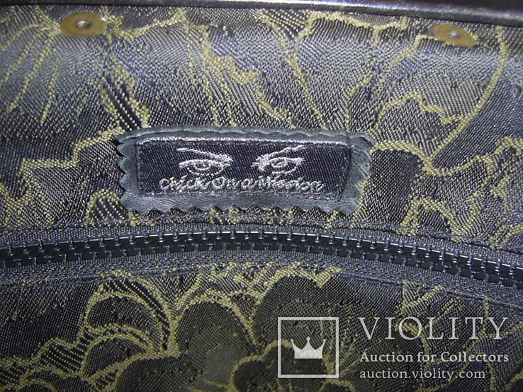 Сумка-саквояж кожаная миссионерская с кошельком Европа, фото №8
