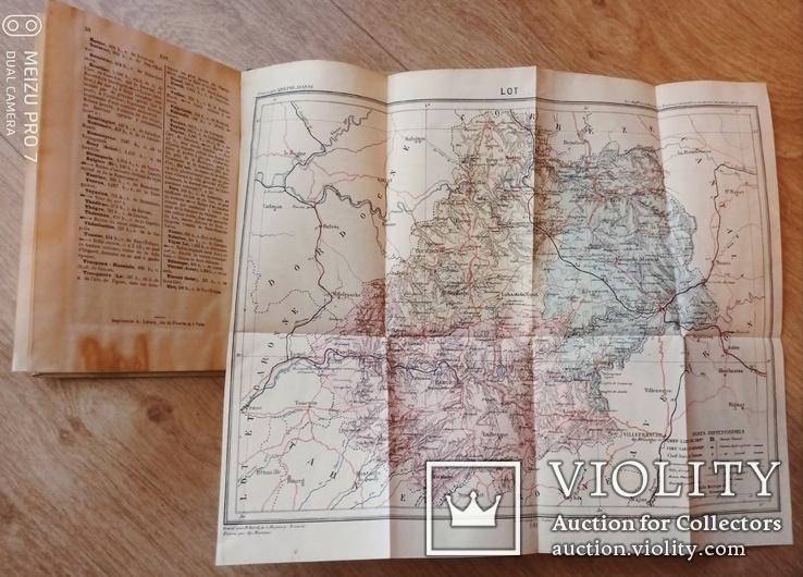 1883 Du Lot с картой и гравюрами