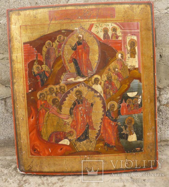 Икона ''Воскресение Христово''19в., фото №9