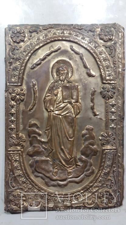 Ікона на металі Кінець 19ст, фото №3