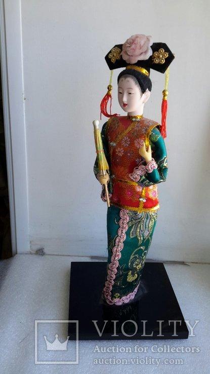 Кукла Китай, ручная работа, фарфоровое лицо, фото №2
