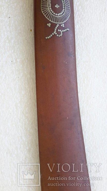 Старинный нож для писем (дерево,серебро), фото №7