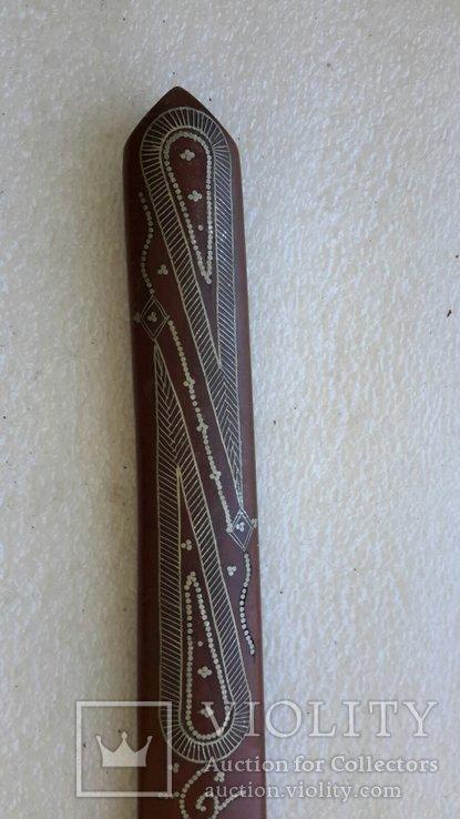 Старинный нож для писем (дерево,серебро), фото №12