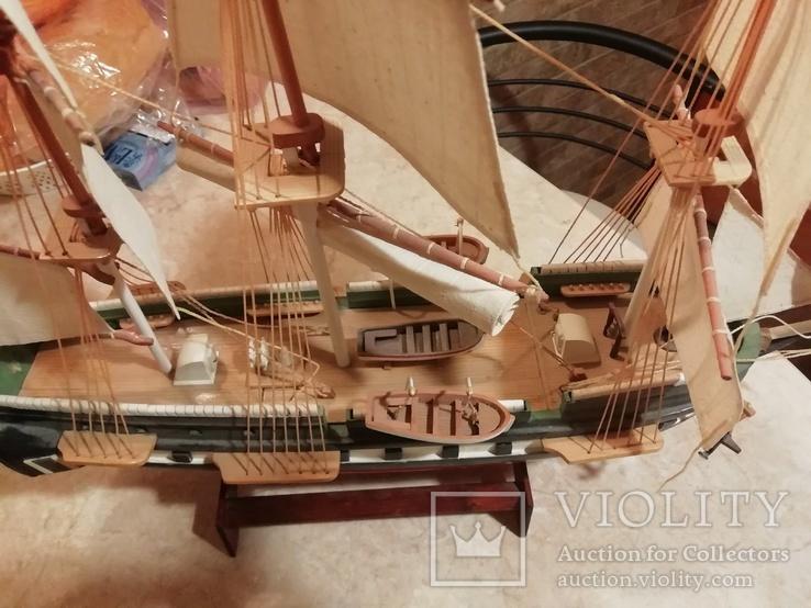 Деревянная модель парусного корабля, фото №4