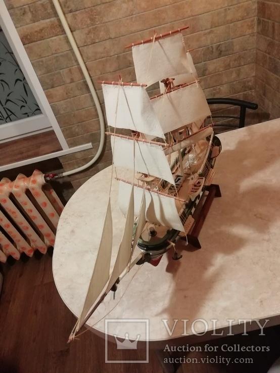 Деревянная модель парусного корабля, фото №6
