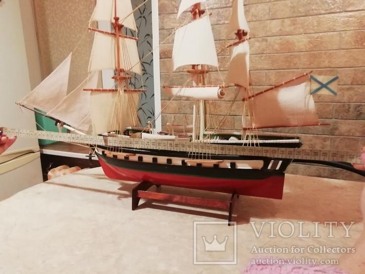 Деревянная модель парусного корабля, фото №8