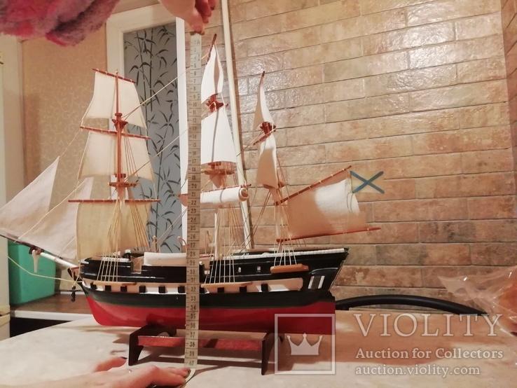 Деревянная модель парусного корабля, фото №9