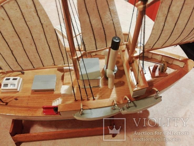 Модель деревянного парусного корабля, фото №2