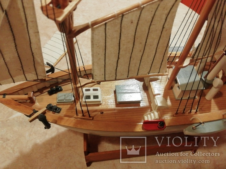 Модель деревянного парусного корабля, фото №3