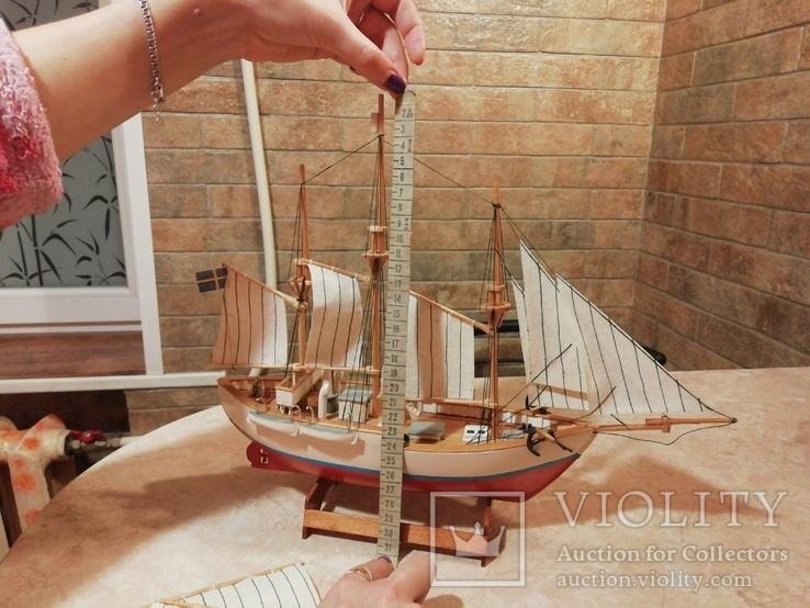 Модель деревянного парусного корабля, фото №7