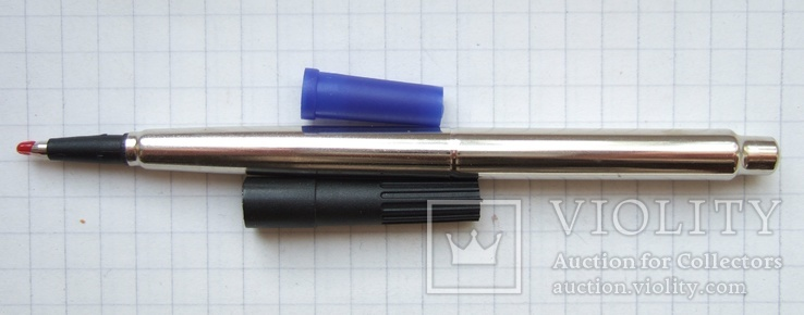 """Стержень капиллярный """"Parker"""" для ручки - роллера. Новый. Свежий. Синий. Неоригинал., фото №3"""