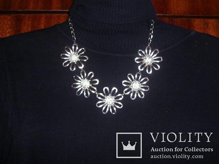 Ожерелье с цветами, фото №2