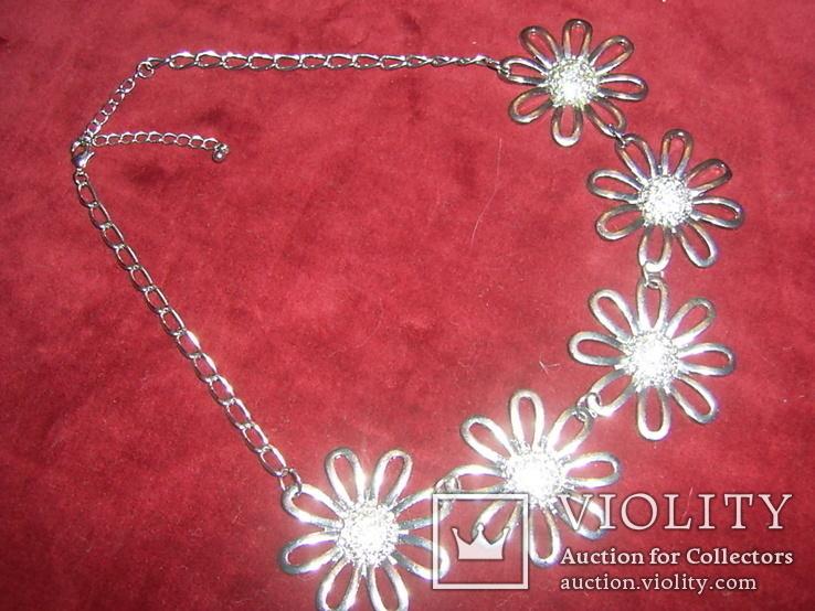Ожерелье с цветами, фото №3