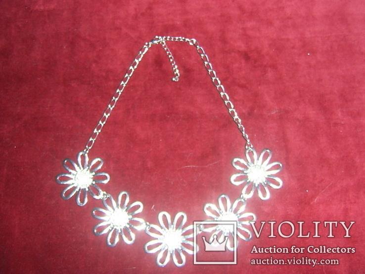 Ожерелье с цветами, фото №4