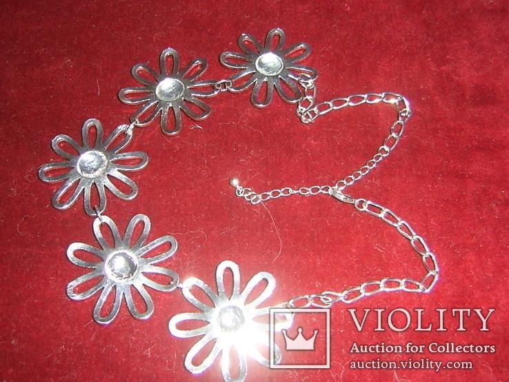 Ожерелье с цветами, фото №6