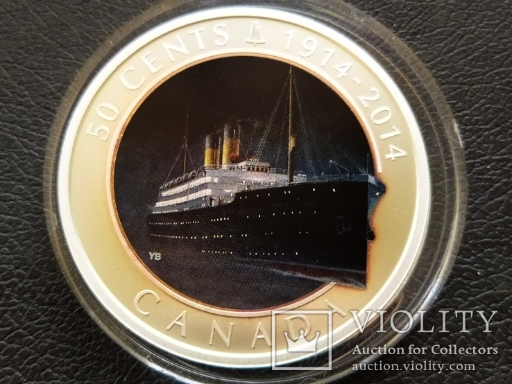 Канада Банковская упаковка 2014 Корабль парусник серебро футляр сертификат, фото №3