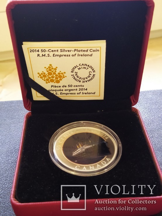 Канада Банковская упаковка 2014 Корабль парусник серебро футляр сертификат, фото №2