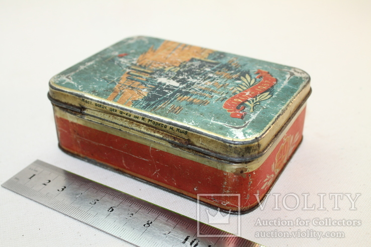 Жестяная коробка кондитерка им. К.Маркса, фото №5