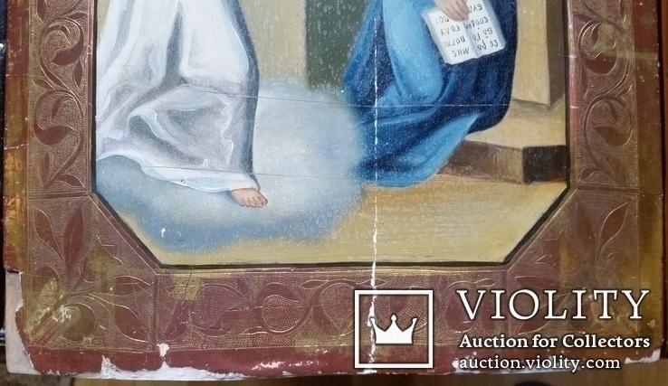 Ікона Благовість, 31х26,2 см, фото №5
